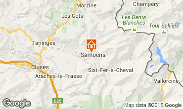 Map Samoëns Studio apartment 41028