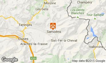 Map Samoëns Studio apartment 41028