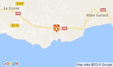Map Gosier (Guadeloupe) Studio apartment 106679
