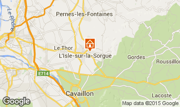 Map Isle sur la Sorgue Self-catering property 92429