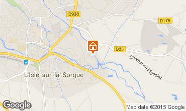 Map Isle sur la Sorgue Self-catering property 92429