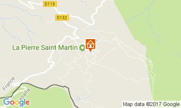 Map Arette La Pierre Saint Martin Studio apartment 66666
