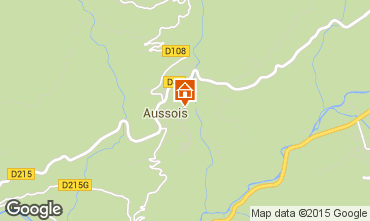 Map Aussois Apartment 61857