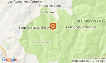 Map Méribel Apartment 58351