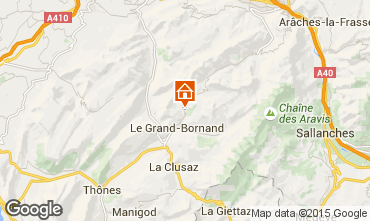 Map Le Grand Bornand Chalet 101638