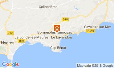 Map Bormes Les Mimosas Villa 114556