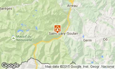 Map Saint Lary Soulan Studio apartment 14766