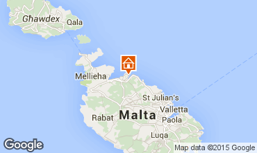 Map Valletta Flat 94875