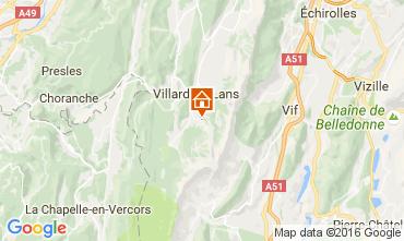 Map Villard de Lans - Corrençon en Vercors Studio apartment 74588