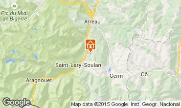 Map Saint Lary Soulan Self-catering property 80216