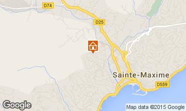 Map Sainte Maxime Studio apartment 73333