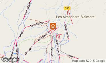 Map Valmorel Apartment 16095