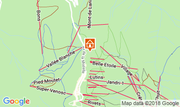 Map Les 2 Alpes Chalet 117369