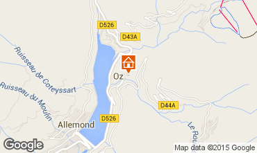 Map Oz en Oisans Studio apartment 74603