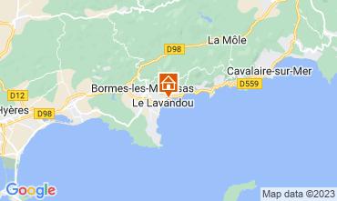 Map Le Lavandou Apartment 107760