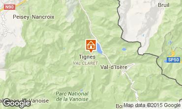 Map Tignes Studio apartment 3155