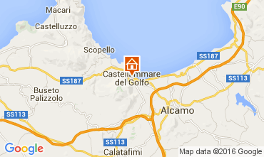 Map Castellammare del Golfo Apartment 104447