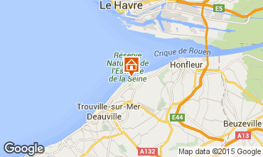 Map Deauville Apartment 67305