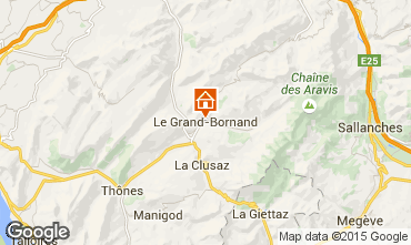 Map Le Grand Bornand Studio apartment 42969