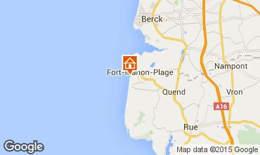 Map Fort Mahon Studio apartment 67525