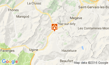 Map Notre Dame de Bellecombe Apartment 107301