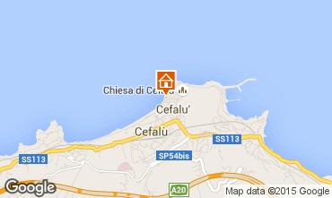 Map Cefalù Studio apartment 65168