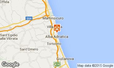 Map Alba Adriatica Apartment 93590