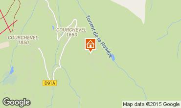 Map Courchevel Apartment 80359