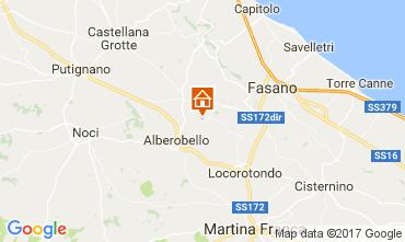 Map Alberobello Self-catering property 110127