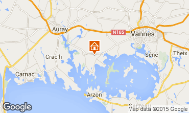 Map Vannes Self-catering property 95700
