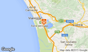 Map Viareggio Apartment 87984