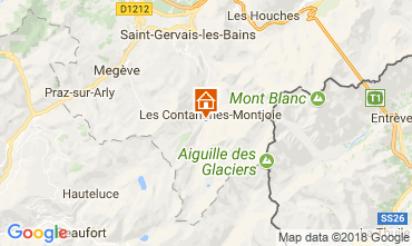 Map Les Contamines Montjoie Self-catering property 115103