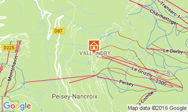 Map Peisey-Vallandry Apartment 98511