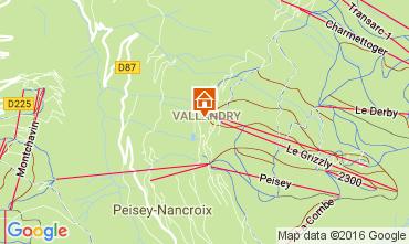 Map Peisey-Vallandry Apartment 98511