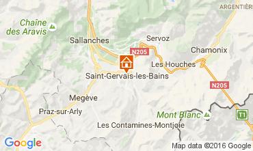 Map Saint-Gervais-les-Bains Apartment 82224