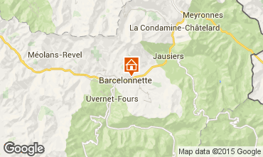 Map Barcelonnette Apartment 79291