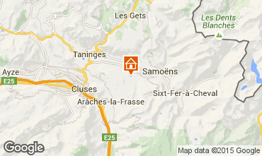 Map Morillon Grand Massif Chalet 1881