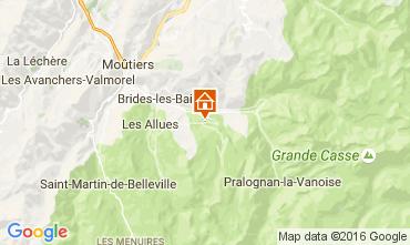 Map Courchevel Chalet 14951