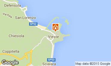 Map Vieste Studio apartment 33954