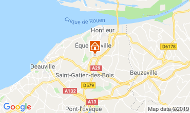 Map Honfleur Self-catering property 120199