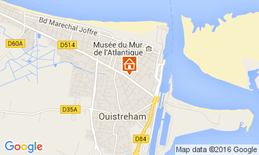 Map Ouistreham Self-catering property 104346