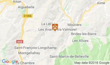 Map Valmorel Apartment 117140