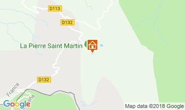 Map Arette La Pierre Saint Martin Studio apartment 117026