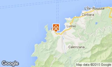 Map Calvi Apartment 7972