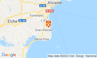Map Santa Pola Apartment 82118
