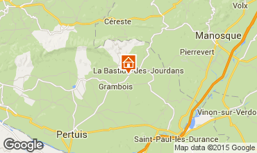 Map Pertuis Self-catering property 48633