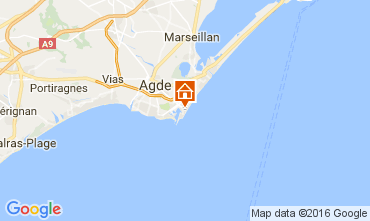 Map Cap d'Agde Apartment 6171
