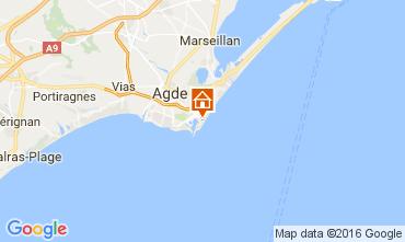 Map Cap d'Agde Apartment 6171