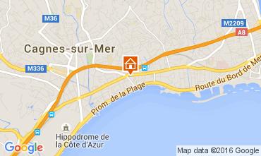 Map Cagnes sur Mer Apartment 104262