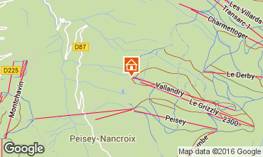 Map Peisey-Vallandry Studio apartment 4747